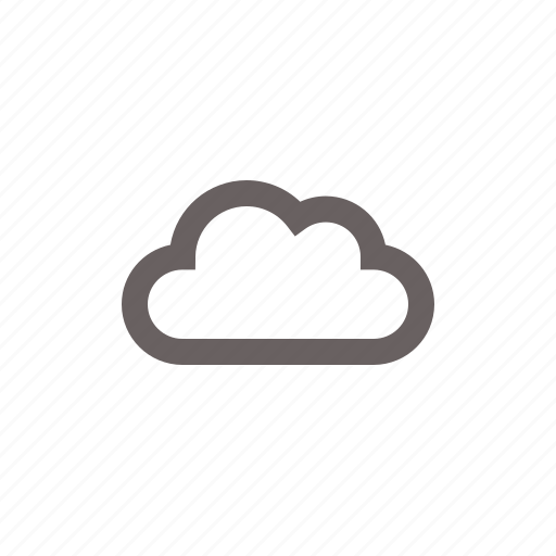 cloud, empty, weather icon