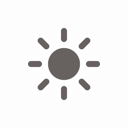 brightness, sun, weather icon