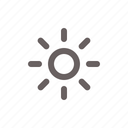brightness, empty, sun, weather icon