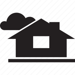 cloud, cloudy, house, weather icon