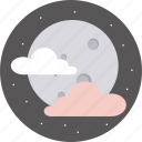 clouds, forecast, moon, weather icon