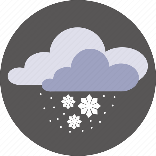 clouds, forecast, snow, weather, winter icon