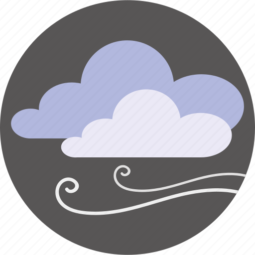 cloud, cloudy, forecast, weather, wind icon