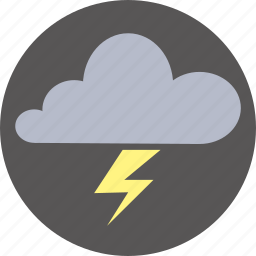 cloud, forecast, thunderstorm, weather icon