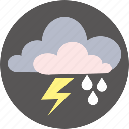 cloud, forecast, rain, thunderstorm, weather icon