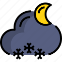 cloud, night, season, snow, weather icon
