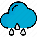 cloud, rainy, season, weather icon