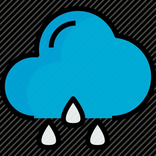 cloud, rainy, season, weather icon