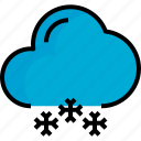 cloud, season, snow, weather icon