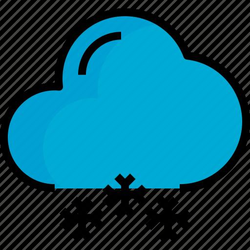 cloud, season, snow, weather icon