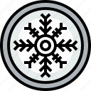 season, snowflake, weather icon