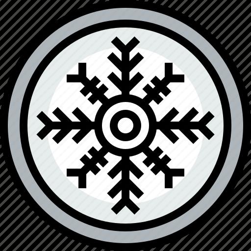 season, snowflake, weather icon