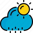 cloud, rainy, season, sunhine, weather icon
