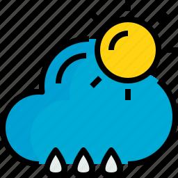 cloud, rainy, season, sunhine, weather icon