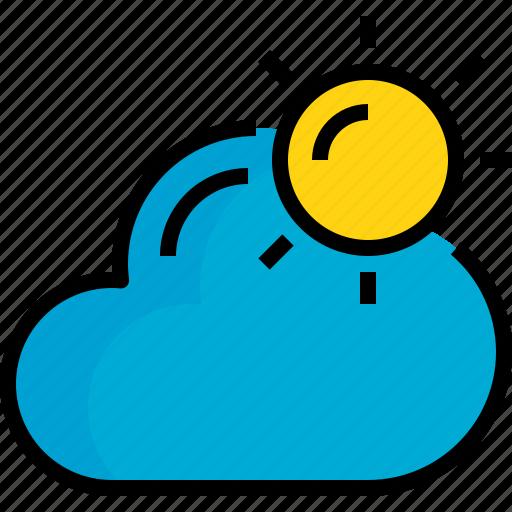 cloud, season, sunshine, weather icon