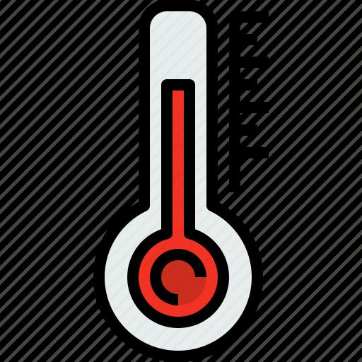 season, thermometer, weather icon