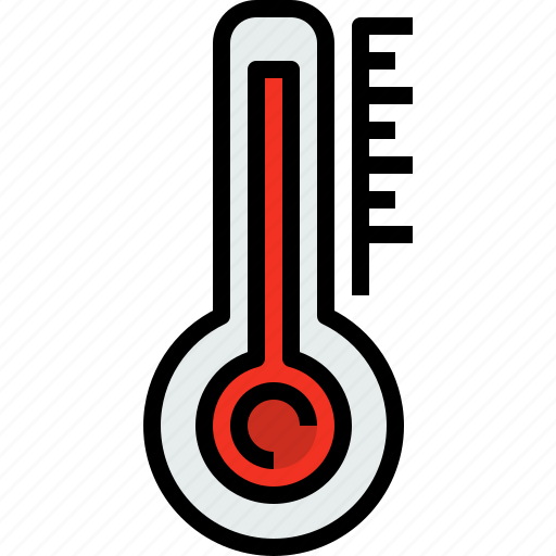 season, thermometer, weather icon
