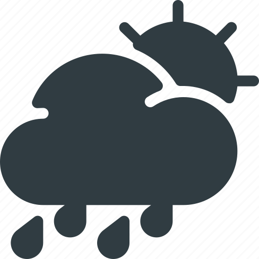 Forcast, hard, rain, weather, storm, day icon