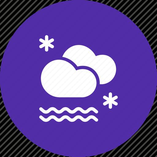 cloud, fog, foggy, forecast, mist, snow, snowfall icon