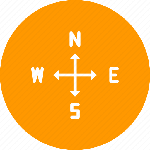 arrow, direction, east, navigation, north, south, west icon