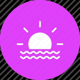 day, daytime, fog, foggy, forecast, mist, sun icon