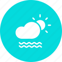 cloud, day, daytime, fog, foggy, mist, sun icon