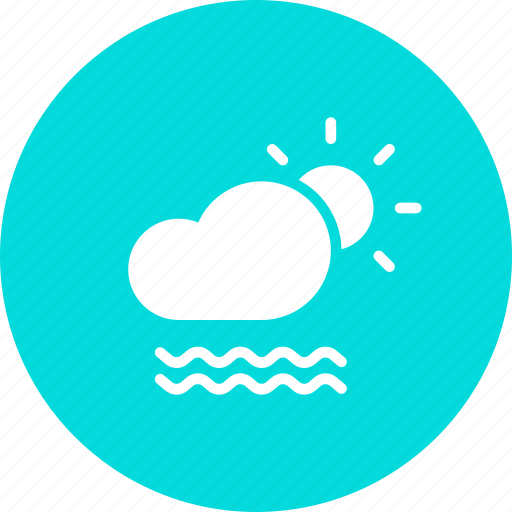 cloud, day, daytime, fog, foggy, mist, sun icon