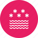 fog, foggy, frost, mist, snow, star, wave icon