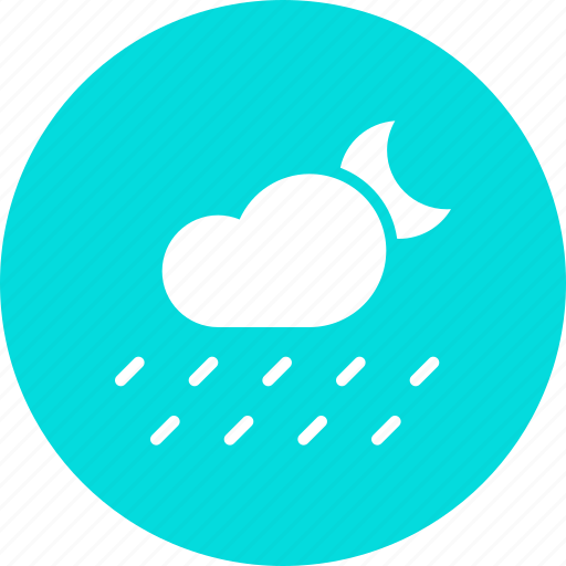Cloud, forecast, moon, night, rain, rainfall, weather icon - Download on Iconfinder
