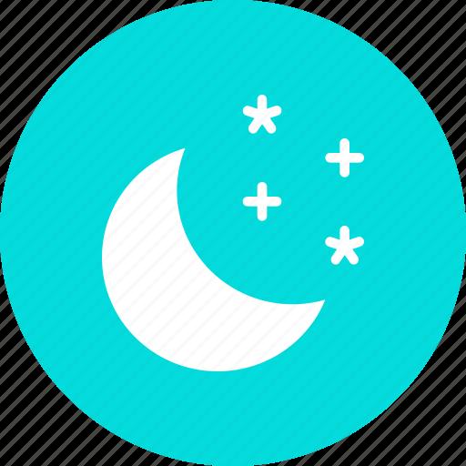 moon, night, sky, star, stars icon
