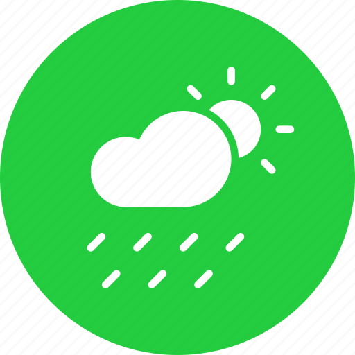 cloud, day, daytime, forecast, rain, rainfall, sun icon