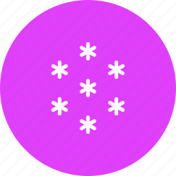 snow, snowfall, star, weather icon