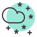 cloud, cloudy, forecast, night, star, stars icon