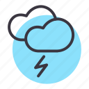 cloud, forecast, lightning, thunder, weather icon