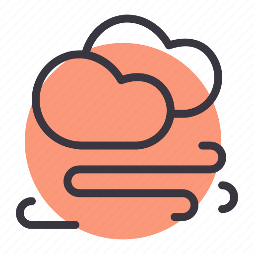 cloud, clouds, forecast, storm, stormy, wind, windy icon