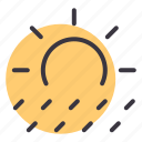 day, forecast, rain, rainfall, raining, sunny, weather icon
