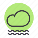 cloud, cloudy, fog, foggy, forecast, mist, weather icon