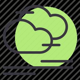 cloud, clouds, cloudy, fog, foggy, forecast, mist icon