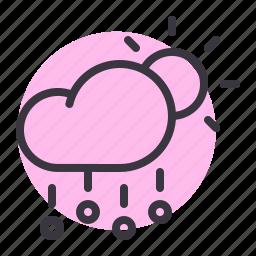 cloud, day, daytime, forecast, hail, rain, stone icon