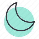 crescent, moon, night, sky icon