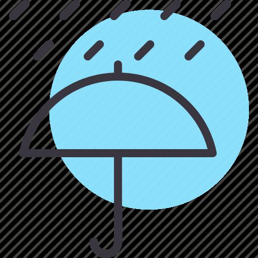 forecast, rain, rainfall, umbrella, weather icon