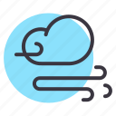 cloud, cloudy, forecast, storm, weather, wind, windy icon