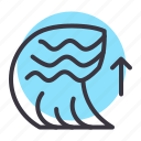 calamity, disaster, natural, ocean, sea, tsunami, wave icon