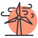 electricity, energy, power, turbine, wind, windmill icon
