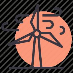 electricity, energy, power, turbine, wind, windmill icon