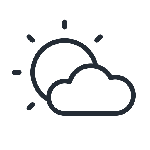 Cloud, cloudy, sun, weather icon - Free download