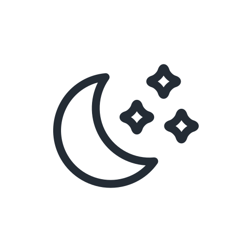 clear, moon, night, sky, star, stars, weather icon
