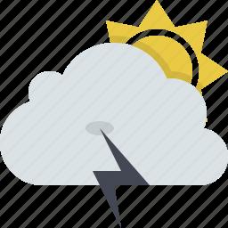 cloud, forecast, lightning, storm, summer, thunder, weather icon