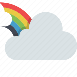 cloud, clouds, cloudy, fairy, rainbow, sky, weather icon