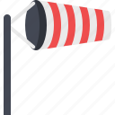 windsock, wind, weather, breeze, forecast, instrument, weather instrument icon